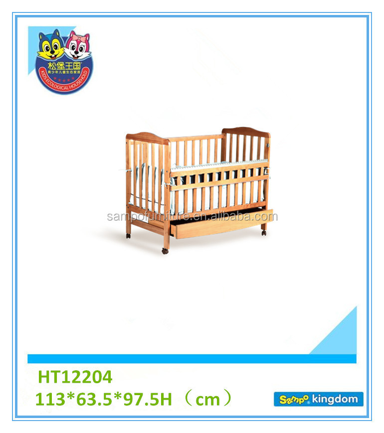 Baby cot suppliers cheap baby cribs with wheels for sale