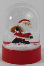 Cute plastic small snow flake snow globe
