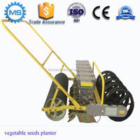manual control hands push vegetable seed planter