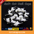 Double Colour Black & White Soft Silicon Cat Nail Caps /Pet Nail Cover /Cat Claw With Free Glue And Applictor