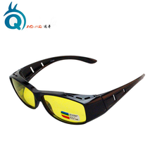 Factory OEM New Design Suitable For Both Myopia And Not Myopic Person Polarized Yellow Lenses HD Night Vision Driving Glasses