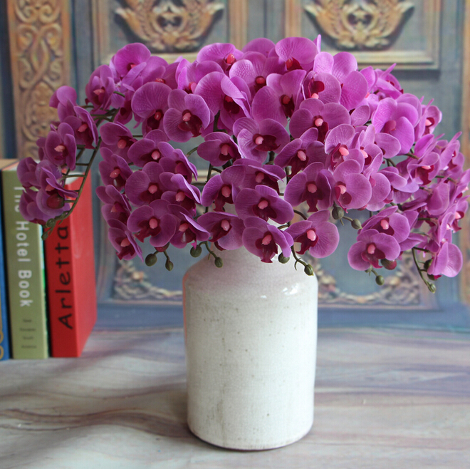 GNW artificial vanda orchid plants decorative latex flowers wholesale silk flower for weddings