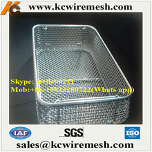 Factory!!!! Cheap!!!! stainless steel Wholesale Metal Wire Weave Basket