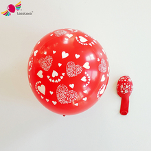 Heart design printing 18 inch latex balloons for wedding decoration