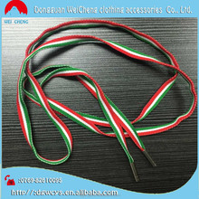 2015 new design shoelace custom colorful round shoe lace with metal tip
