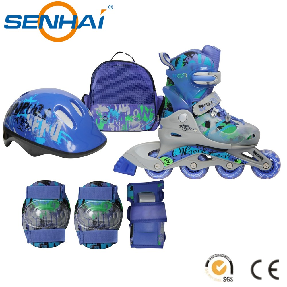 SENHAI/ACTION 2016 New Products Inline Skate Suit Combo Set 2016 Well Material Great Price Funny Inline Skate Set Sport Shoes