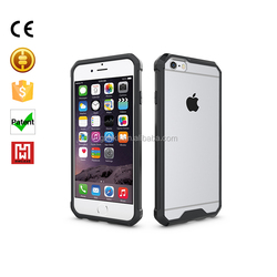 High Quality Factory Price Graphic Design Waterproof Transparent Cell Phone Back Cover Case for iphone 6