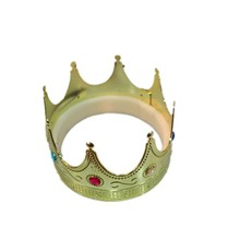 Custom Plastic Gold Jewelry King Crown for party