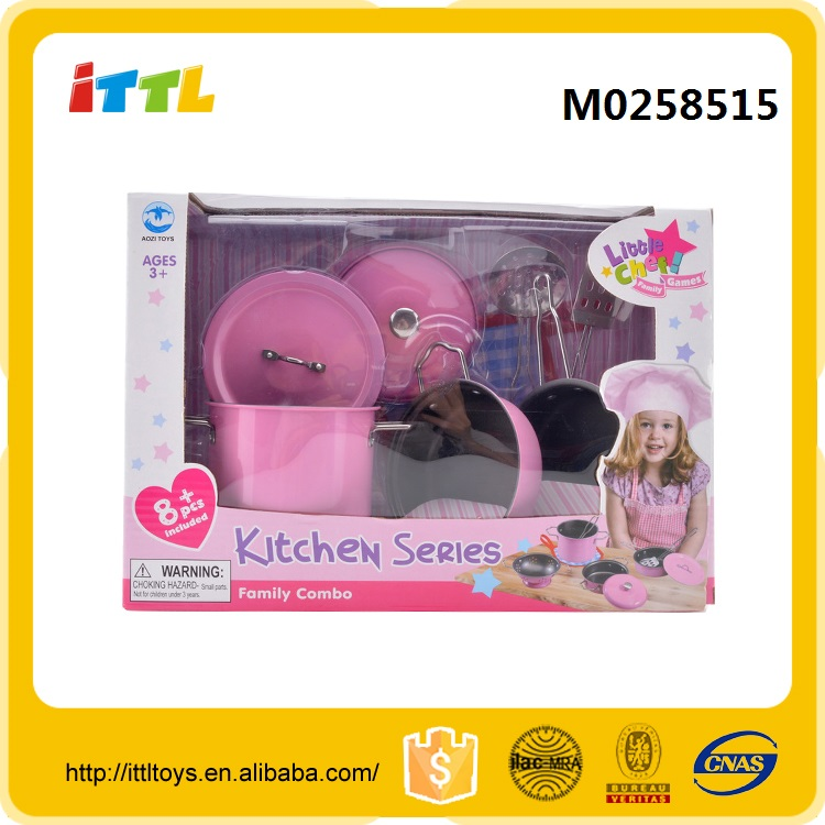 New design kitchen tool set happy kitchen toys toy tea cart