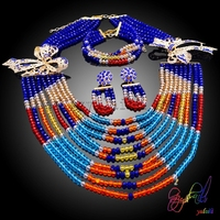 Luxury Fashion Statement Good Quality Jewelry Sets Brand Elegant Crystal African Beads Jewelry Sets