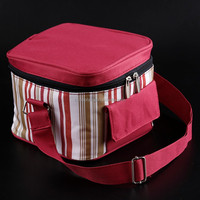 Full season insulated canvas lunch cooler bag/cooler bag for frozen food