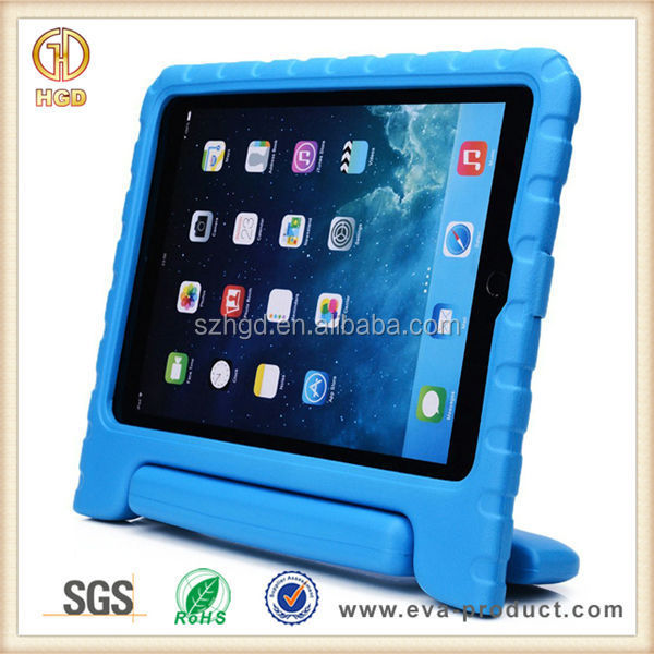 Luxury eva foam rubber material super protection case for ipad air 2 for kids