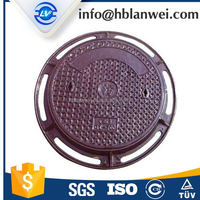 Stock Discount EN124 round 700mm Heavy duty cast iron manhole cover and frame