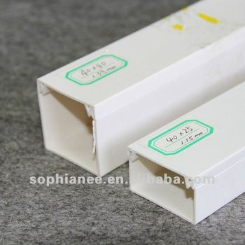 PVC electrical trunking size 25x40mm