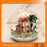 Self assemble mini wooden doll house toy