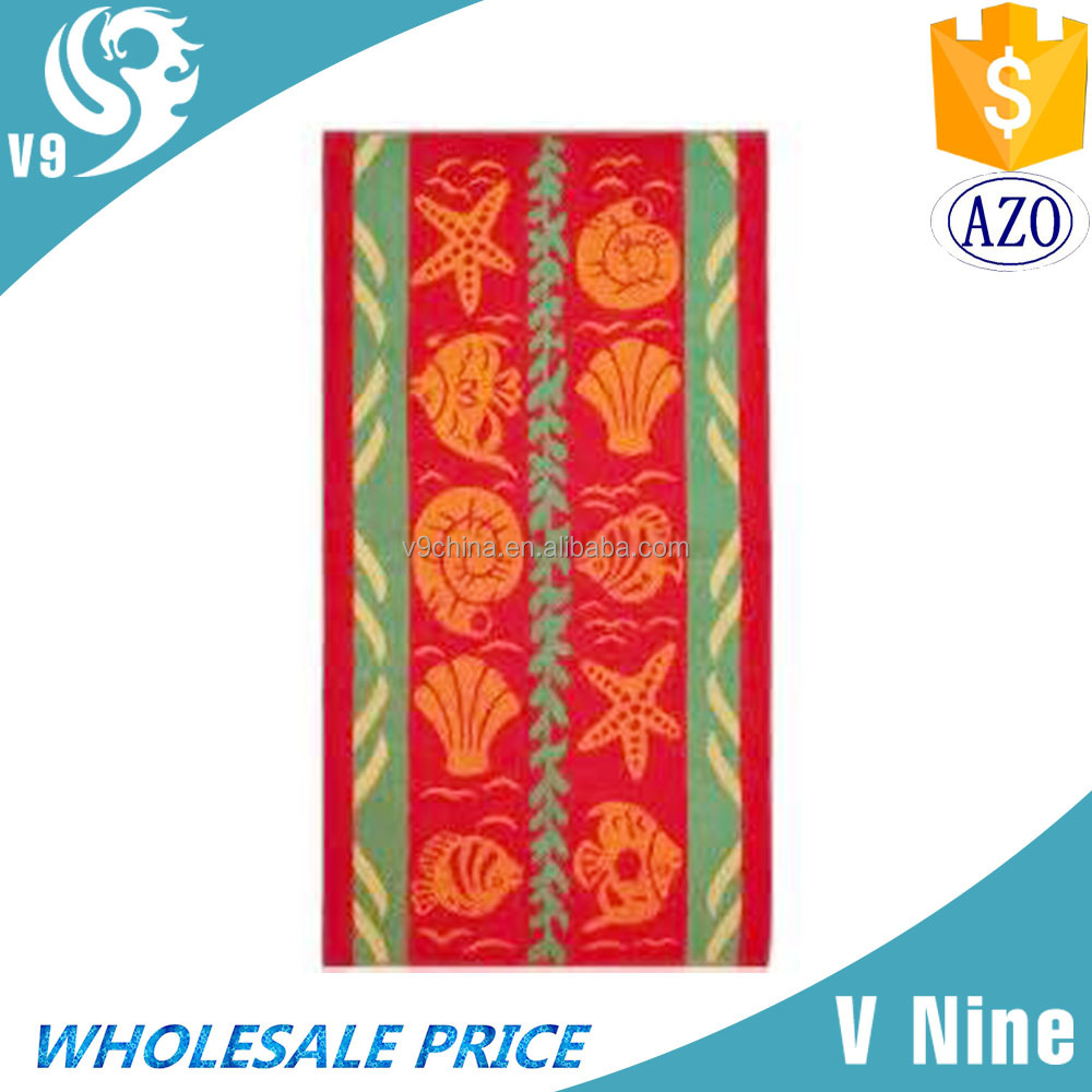 Wholesale free sample striped beach towel clearance with low price