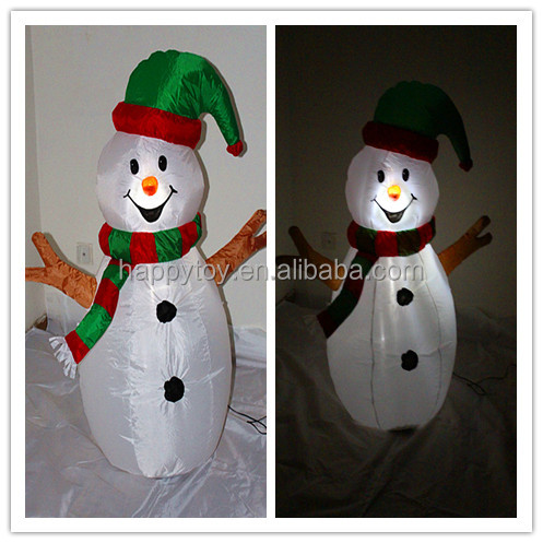 47 inch large air blown inflatable standing outdoor lighted snowman Christmas <strong>decoration</strong>