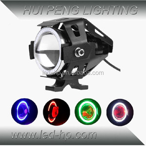 Hot Sale 15W Colorful Waterproof Led Motorcycle Light with Angel eye and Devil eye