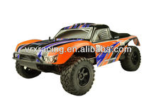 Printed SC truck body 1pc orange,1/10th scale rc cars' orange body, rc rally's body shell