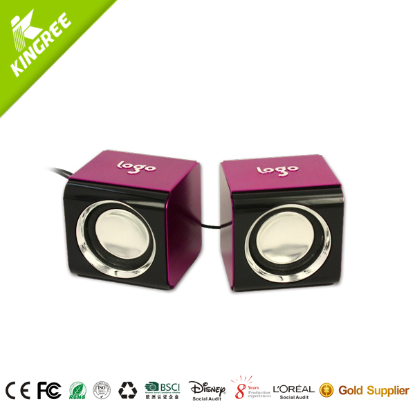 1 inch cube speakers/enjoy music mini speaker with 2.0 channel
