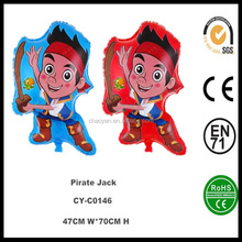 2016 Good quality inflatable cartoon characters Pirate Jack helium balloon for sale,inflatable cartoon character balloons