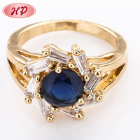 Hot Trending 18K Gold Dubai Wedding Brass Diamond Rings Jewelry For Women
