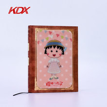 Customized Notepad Printing Type Plastic PET Paperback Diary Notebook with 3D Lenticular Cover
