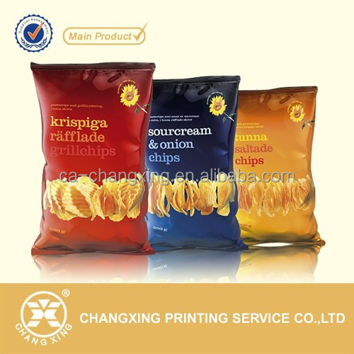 High barrier metalized potato chips packaging material pouch/bag/film roll