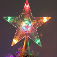 Newest !! Lowest Price Colorful Changing Christmas Xmas Tree Topper Star Light LED Lamp Indoor Outdoor Decoration