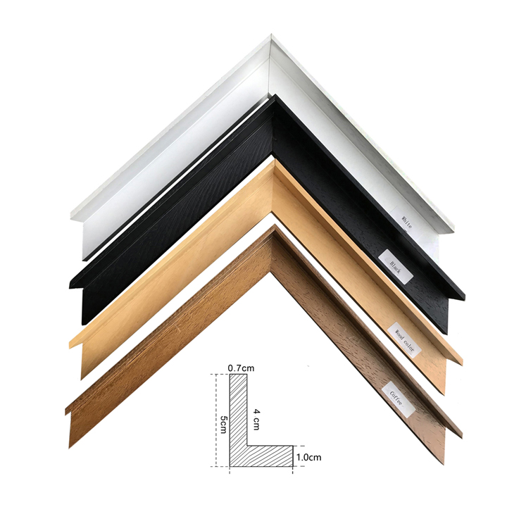 4 color 50 mm thickness Wood black white coffee solid wood floater shadow box frame