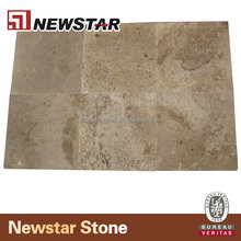 Brush Travertine French Pattern/travertine marble floor tiles/antique white marble tile