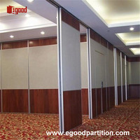 design decorative sliding folding partition wall for dinning room