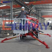 CE approved hydraulic towable man spider boom lift for sale