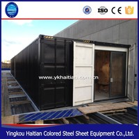 Mobile container buildings restaurant/designer fast food kiosk/prefabricated bar shipping container office 40 foot for sale