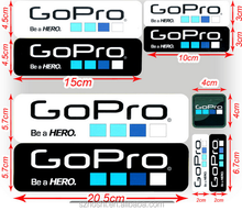 gopro accessories set 9pcs Labels Gopro Hero 3 Icon Adhesive Stickers For Hero3+/ 2 gopro Icon