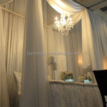 white 10 feet wide voile sheer wedding drapes ceiling drapes
