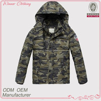 New camouflage padded men coat with hood 2014 european fashion winter coats