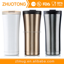 Novel design leak-proof double wall stainless steel insulated starbucks coffee mug