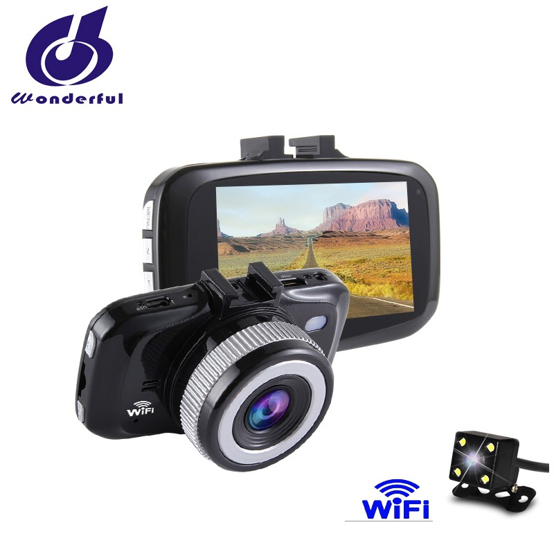 Mini Wifi Car dashboard Dual Auto Video Camera Full HD 1080P Portable Cars Camcorder Light Night Vision With dual