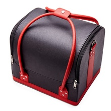 Professional Large Removable Jewelry PU Leather Cosmetic Box <strong>Nail</strong> Makeup Case Salon
