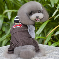 Good reputation direct sale corduroy pet clothes fall and winter christmas dog clothes