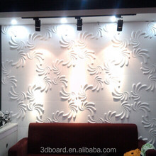 100% eco-friendly bamboo fiber interior 3d wall covering panels