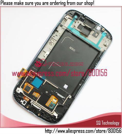 Mobile Phone for Galaxy for Samsung S3 i9300 LCD Display +Touch Screen Digitizer and Frame Full Set