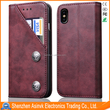 Luxury PU Leather Wallet Flip Protective Case for iPhone 8