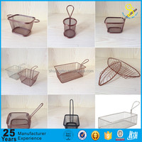 Trade assurance Eco-friendly stainless steel cooking french fries wire mesh deep filter mini fry basket, Mcdonalds Deep Fryer