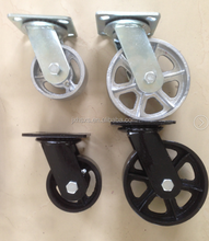 "3"" Rollerblade Style Soft Office Chair Caster Wheels with 7/16"" x 7/8"" Grip Ring Stem"