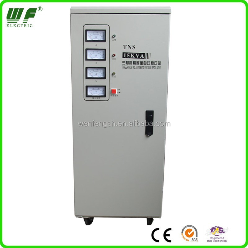 15KVA SVC three phase Relay Type Servo Motor Voltage Stabilizer for generator