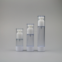 15ml/30ml/50ml empty clear plastic body facial whitening moisture lotion/milky/serum airless pump bottles/jars