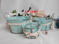 china lining wire baskets for home decoration and storage