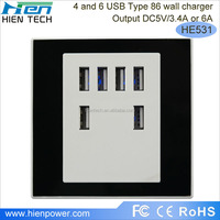5V 6A USB multi electrical plug socket, universal USB outlet charge the ipad, cell phone. Camera, PSP, MID, GPRS
